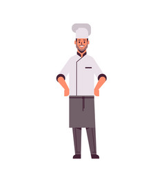 Male professional chef cook standing pose man vector