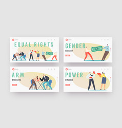 Man and woman struggle for equal gender rights vector
