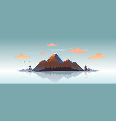 mountains sunset vector image
