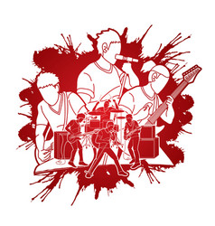 musician playing music together music bandartist vector image