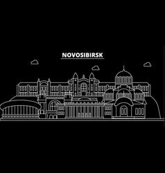 novosibirsk silhouette skyline russia vector image