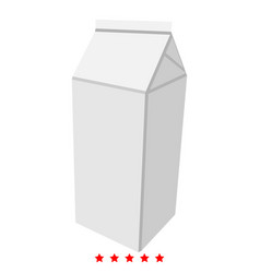 package for milk icon color fill style vector image