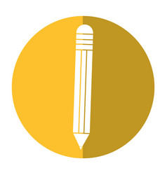 pencil school utensil shadow vector image