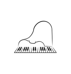 piano and violin logo icon design vector image