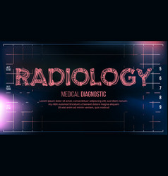 Radiology banner medical background vector