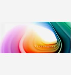 Rainbow fluid abstract swirl shape twisted liquid vector