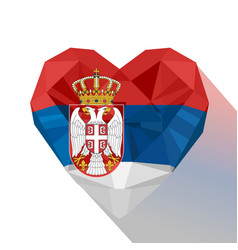 Serbian heart flag the republic of serbia vector