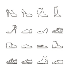 Shoes line icons vector