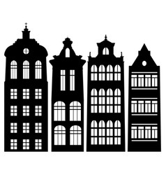 Silhouettes of houses vector