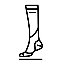 soccer sock icon outline style vector image
