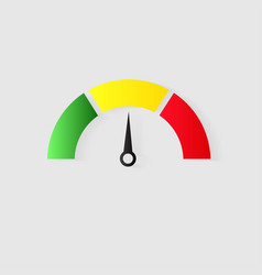 speedometer icon or sign with arrow vector image