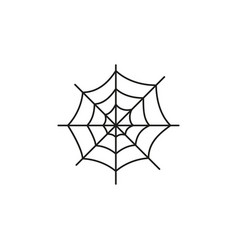spider web of the icon the bug helloween vector image