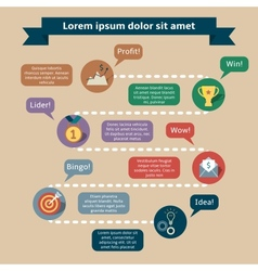 Success infographics template vector
