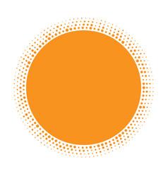 sun icon halftone orange circle vector image