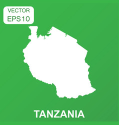 Tanzania map icon business concept tanzania vector