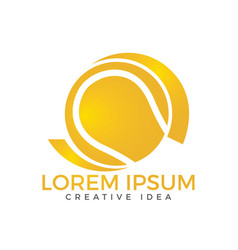 tennis sport logo design template vector image