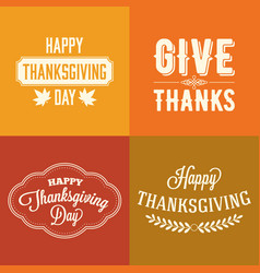 Thanksgiving type font typography design vector