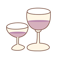 Two glass of wine vector