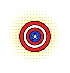 USA star icon in comics style vector