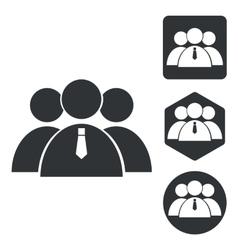 User group icon set monochrome vector image