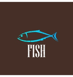 vintage with a fish vector image