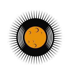 Vinyl record moon logo vector