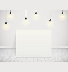 white room vector image