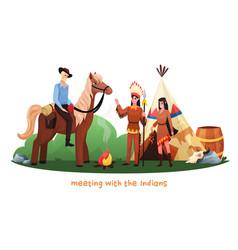 wild west cartoon vector image