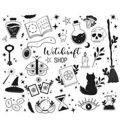 Witchcraft magic shop concept vector