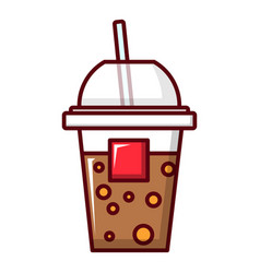 paper cup icon cartoon style vector image