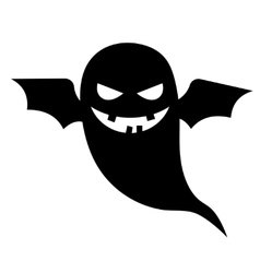 Scary ghost halloween silhouette vector