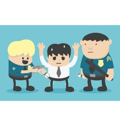 crime by bad police vector image vector image