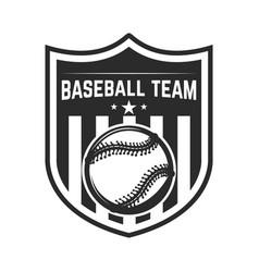 emblem with baseball ball design element for logo vector image