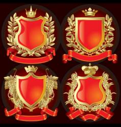 Heraldic symbols vector