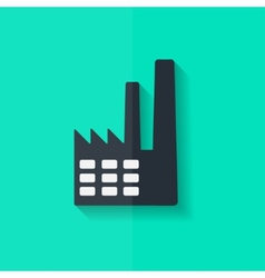 Power station icon Flat design vector image vector image
