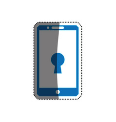 smartphone phone security keyhole vector image vector image