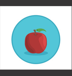 apple rounded symbol badge vector image vector image