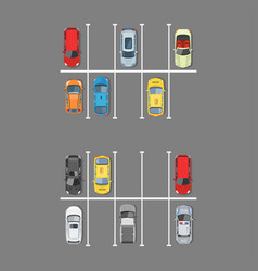 city car parking in flat style vector image vector image