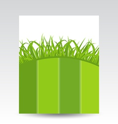 Ecology card with green grass vector image