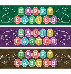 Greetings web banners for Easter Day vector image vector image