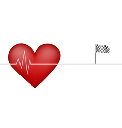 heart pulsing vector image vector image