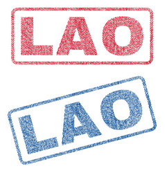 lao textile stamps vector image