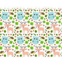sweet seamless forest pattern design vector image
