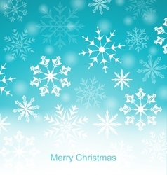 Xmas Blue Background with Snowflakes vector image