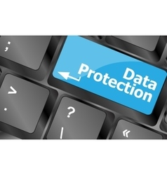 data protection button on the keyboard keys vector image
