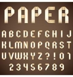 Old Paper Folded Font vector image