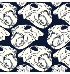 Skull animal seamless pattern ball vector image vector image