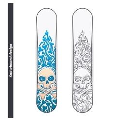 Snowboard Design One vector image vector image