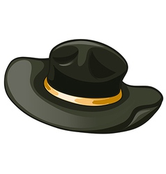 A black hat with a yellow belt vector