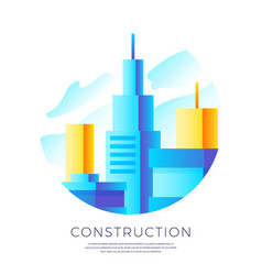 abstract construction emblem design vector image